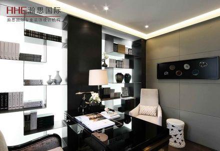 2018精选82平米现代小户型书房欣赏图片