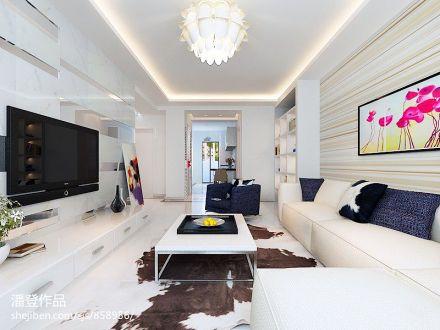 热门76平方二居客厅混搭装修实景图片大全