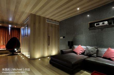 精美面积90平小户型客厅现代装修实景图片欣赏