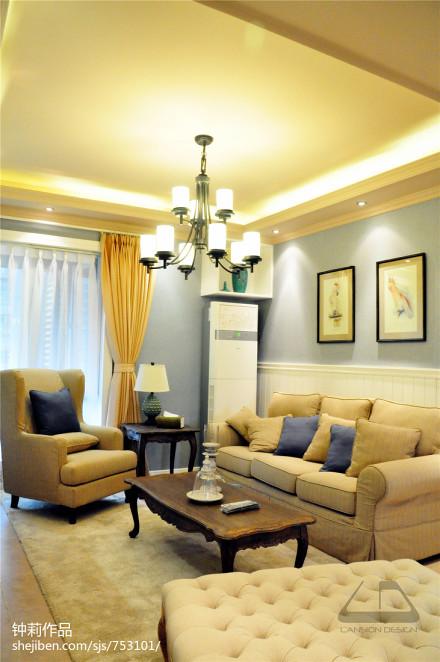 热门混搭3室客厅欣赏图片大全107平