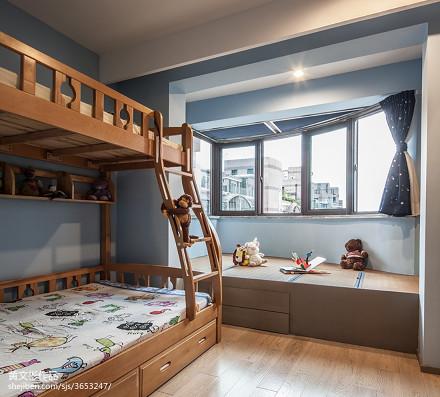 现代儿童房窗台榻榻米设计
