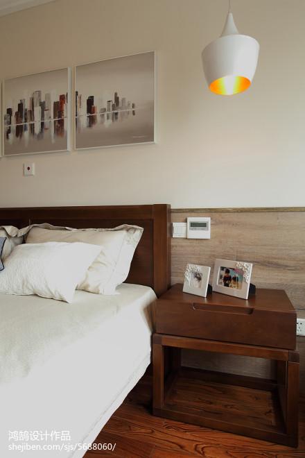 96平米三居卧室简约装修效果图
