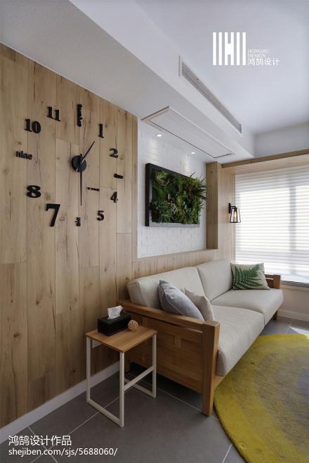 精美面积109平北欧三居客厅装修效果图