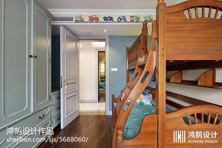 热门大小105平现代三居儿童房欣赏图