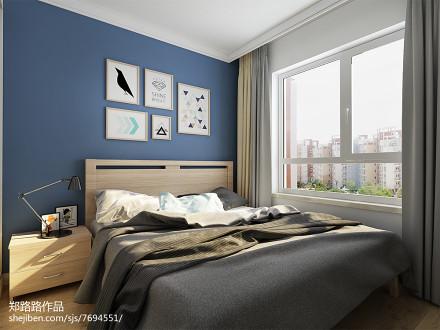 201884平米二居卧室北欧装修设计效果图片欣赏