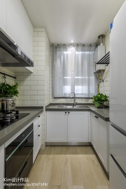 简洁155平北欧四居厨房实景图