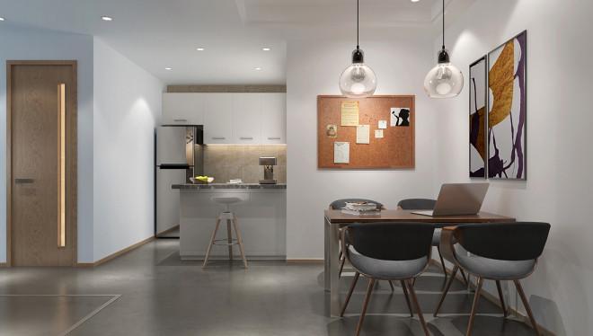 精选92平米三居餐厅日式效果图片